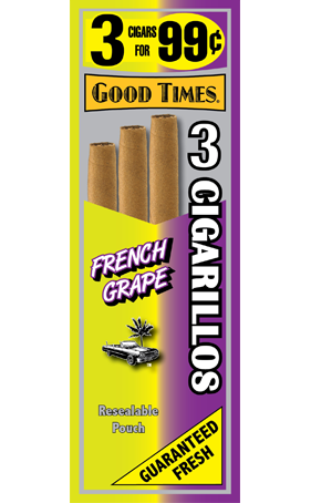 Good Times French Grape Cigarillos 15/3's - 45 cigars