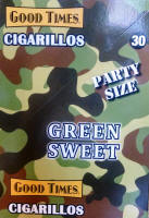 Good Times Green Sweets Party Size Cigarillos 15/2's - 30 cigars