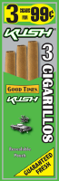 Good Times Kush Cigarillo Cigars Foil Pouch 3 for 99 - 45 cigars