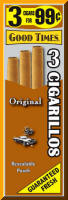 Good Times Original Cigarillo Cigars Foil Pouch 3 for 99 - 45 cigars