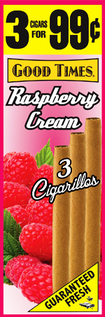 Good Times Raspberry Cream Cigars 15/3's 45 cigarillos