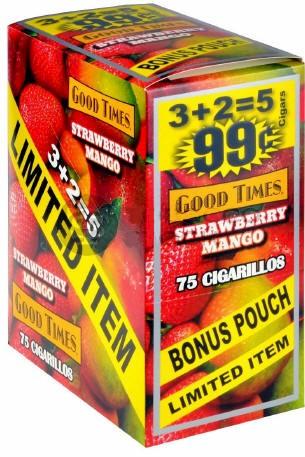 Good Times Strawberry Mango Cigars 15/5's 75 cigarillos