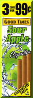 Good Times Sour Apple Cigarillo Cigars Foil Pouch 3 for 99 - 45 cigars