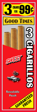 Good Times Sweet Cigars 15/3's 45 cigarillos