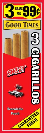 Good Times Sweet Cigars 15/3's 45 cigarillos