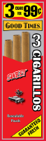 Good Times Sweet Cigarillo Cigars Foil Pouch 3 for 99 - 45 cigars