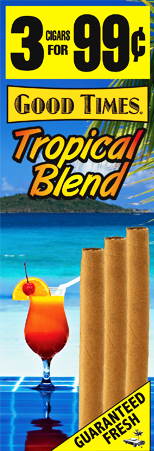 Good Times Tropical Blend Cigars 15/3's 45 cigarillos