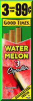 Good Times Watermelon Cigarillo Cigars Foil Pouch 3 for 99 - 45 cigars