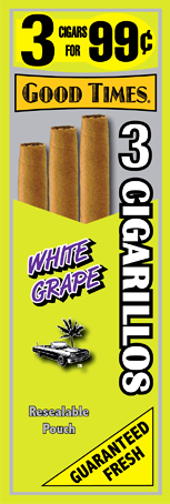 Good Times White Grape Cigars 15/3's 45 cigarillos