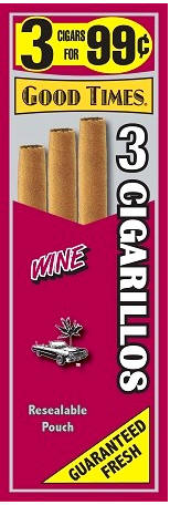 Good Times Wine Cigars 15/3's 45 cigarillos
