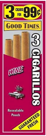 Good Times Wine Cigars 15/3's 45 cigarillos