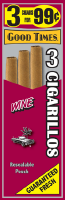 Good Times Wine Cigarillo Cigars Foil Pouch 3 for 99 - 45 cigars
