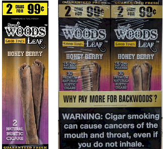 Good Times Woods Leaf Honey Berry 60ct Cigarillos