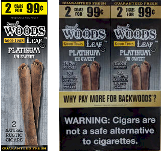 Good Times Woods Leaf Platinum 60ct Cigarillos
