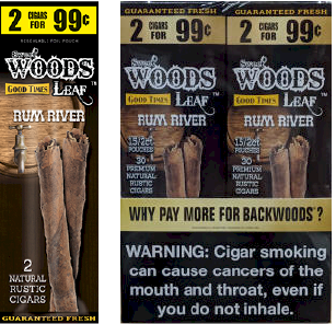 Good Times Woods Leaf Rum River 60ct Cigarillos