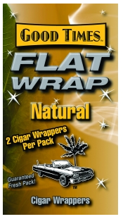 Good Times Natural Flat Wraps 2/25's 50ct