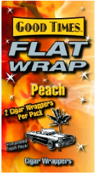 Good Times Peach Flat Wraps 2/25's 50ct