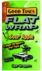 Good Times Sour Apple Flat Wraps 2/25's 50ct