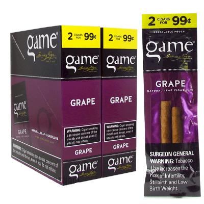 Game Grape Cigarillo 2 for 99 Cigars