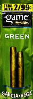 Game Green Cigarillo 2 for 99 Cigars