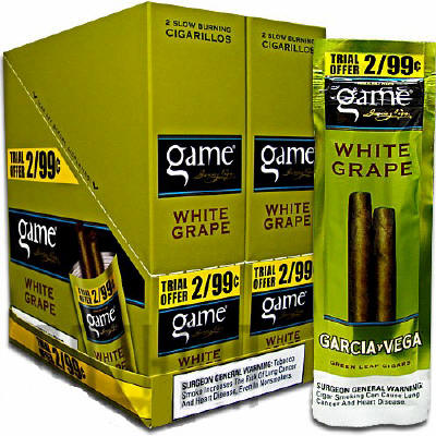Game White Grape Cigarillo 2 for 99 Cigars