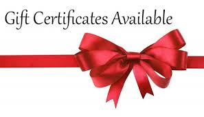 Advantage Services Gift Certificates for $25.00 - $50.00 - $75.00 - $100.00