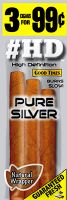 Good Times HD Pure Silver Cigarillo Cigars Foil Pouch 3 for 99 - 45 cigars