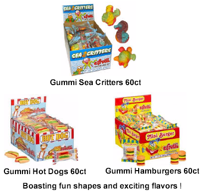 Gummi Hamburger Candy 60ct by eFrutti