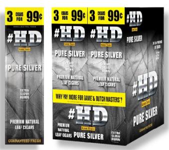 Good Times #HD Pure Silver Cigarillos 90 cigars