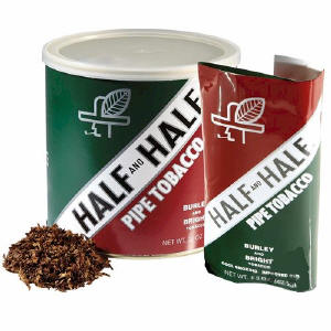 Half and Half Pipe Tobacco 14oz cans & 1.5oz pouches