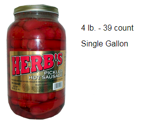 Herbs Pickled Hot Sausage 1 Gallon
