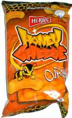 Herr's Hot Honey Cheese Curls 1oz bags