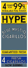 Hype Blue Mystiq Cigarillos 60ct