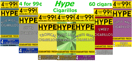 Hype Cigarillos 15/4's - 60 cigars