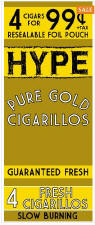 Hype Pure Gold Cigarillos 60ct