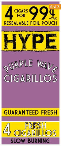 Hype Purple Wave Cigarillos 15/4's - 60 cigars