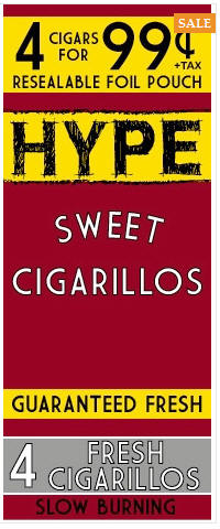 Hype Sweet Cigarillos 15/4's - 60 cigars