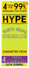 Hype White Grape Cigarillos 60ct