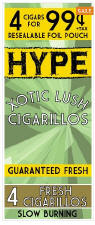 Hype Xotic Lush Cigarillos 60ct