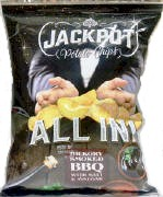 Jackpot Potato Chips Hickory Smoked BBQ with Salt & Vinegar