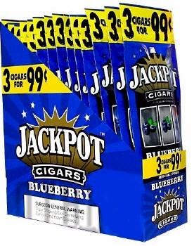 Jackpot Blueberry Cigars 15/3's - 45 Cigarillo's