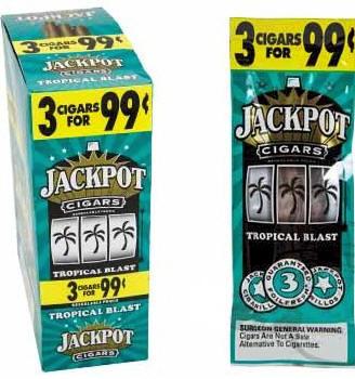 Jackpot Tropical Blast Cigars 15/3's - 45 Cigarillo's