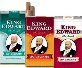 King Edward Cherry Filtered Cigars 10/20's - 200 cigars