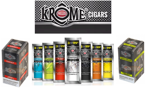 Krome Onyx Blackberry Cigarillo Cigars 30ct - Phillies Krome Onyx Blackberry Cigarillo Cigars 30ct