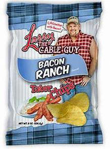 Larry the Cable Guy Bacon Ranch Potato Chips 3oz-12ct
