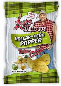 Larry the Cable Guy Hollar-Peno Poppers Potato Chips 3oz-12ct
