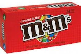 M & M Peanut Butter 24ct - 24 bags per display box