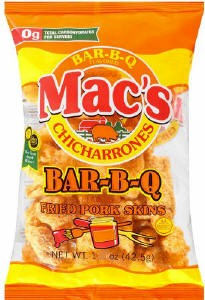 Mac's BBQ Pork Skins 1oz - 12ct