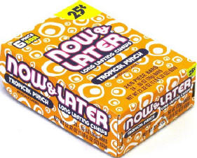Now and Later Tropical Punch Candy 24ct boxes 120ct soft tub