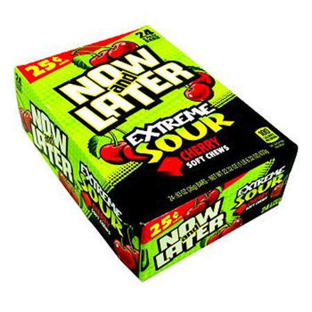 Now and Later Extreme Sour Cherry Candy 24ct boxes